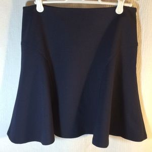Banana Republic navy flared mini skirt. Size 4